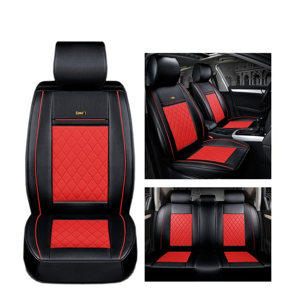 top popular ( Front + Rear ) Luxury Leather car seat covers For Mazda All Models cx5 CX-7 CX-9 RX-8 Mazda3 5 6 8 car accessories car styling 2019
