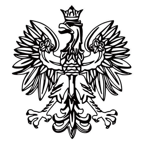 Polish Eagle Vinyl Decal Poland Emblem Funny Car Styling Jdm Sticker Bird Symbol Car Truck Accessories Decor Art