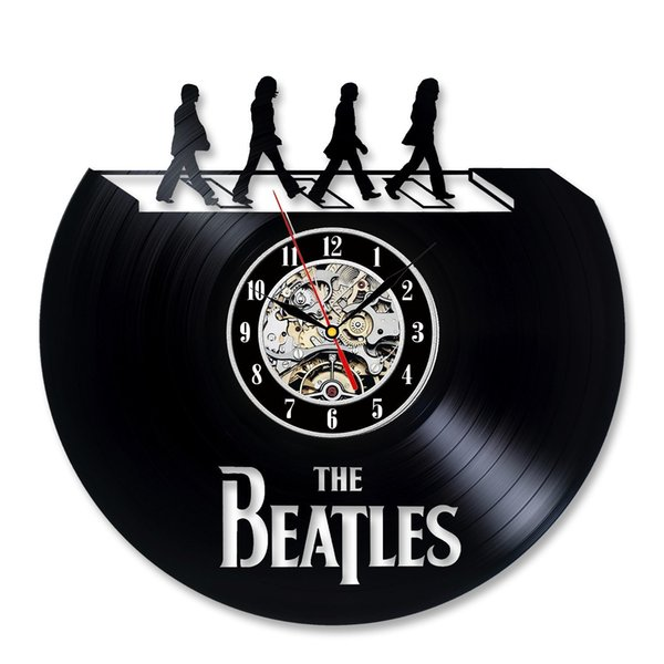 Beatles Vinyl Wall Clock Fan Gift Children's Room Decor Idea Home Art Party Decoration Party Decoration Halloween