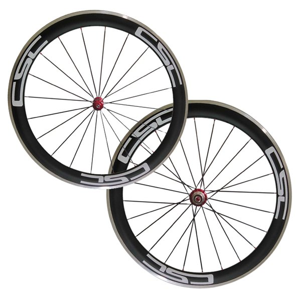 700C 50mm Clincher Carbon bike wheels with aluminium braking surface Straight Pull R36 Cheap Road Bicycle Wheelset Free Shipping