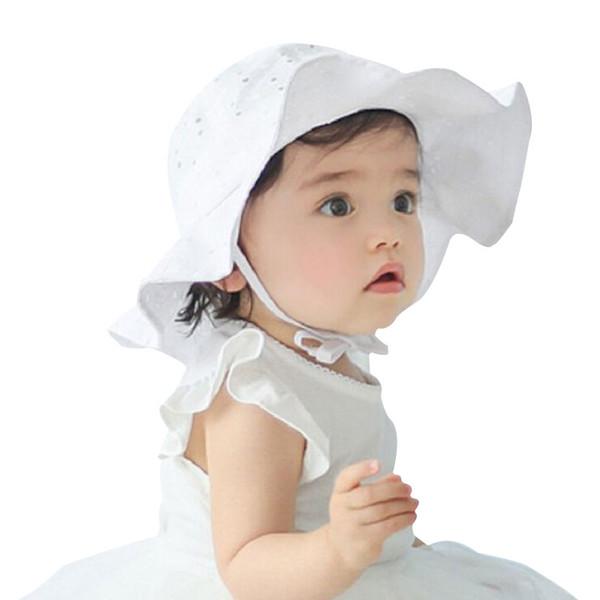 Toddler Girls Sun Hat Accessories Kids Summer Cotton Bucket Hat Girls Brim Beach Hat With Wide Brim head circumference 50cm