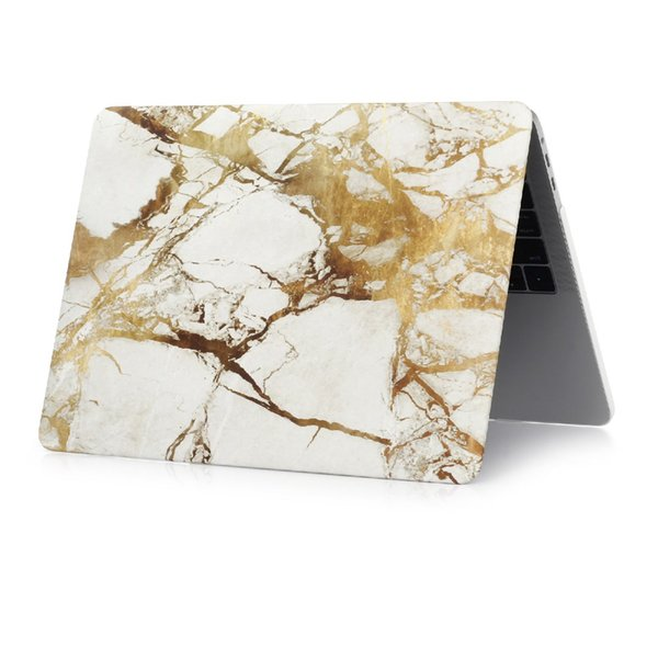 High Quality Marble Texture Laptop Case For MacBook Air 11 13 inch For Macbook Pro with Retina 12 13.3 15 Screen Protector+keyboard cover