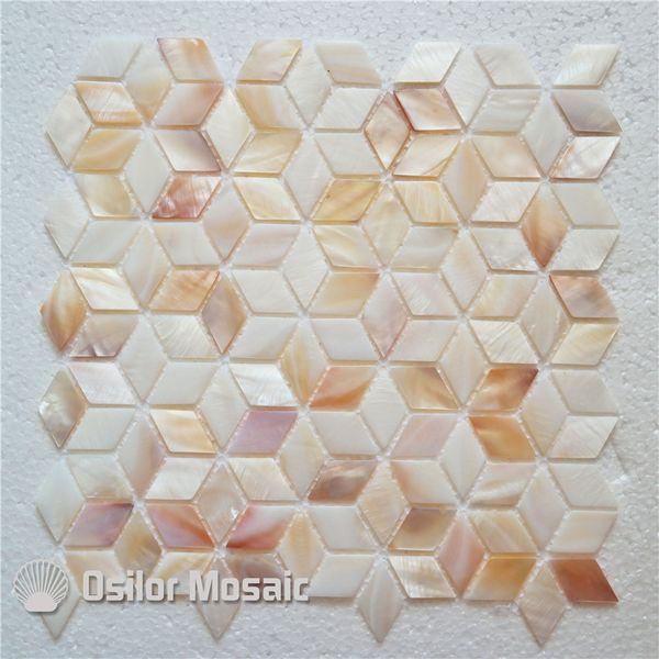Grosshandel Naturliche Farbe 100 Naturliche Chinesische Susswasser Shell Perlmutt Mosaik Fliese Fur Heimtextilien Wand Fliese Raute Stil Von