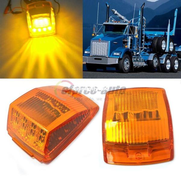 top popular New 2x 17-LED AMBER ROOF TOP CAB SIDE MARKER FOR KENWORTH TRUCK Lighting TRAILER LIGHT LAMPS 2021