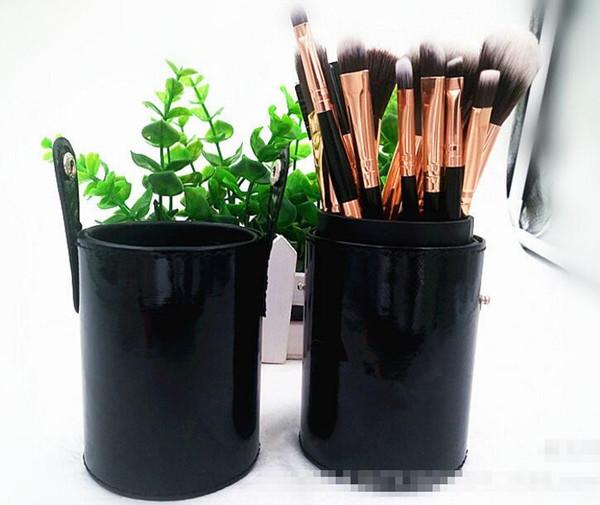 Hot Brand Ana Makeup Brushes Set 12 Pcs Cylinder Black Handdle Lips Blusher Brushes Eyebrow Brush Makeup Tools Free Shipping # MQ-72