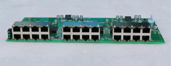 2018 hot embedded system data exchange 24 port gigabit ethernet switch pcba module DC 5-15V wide range input voltage