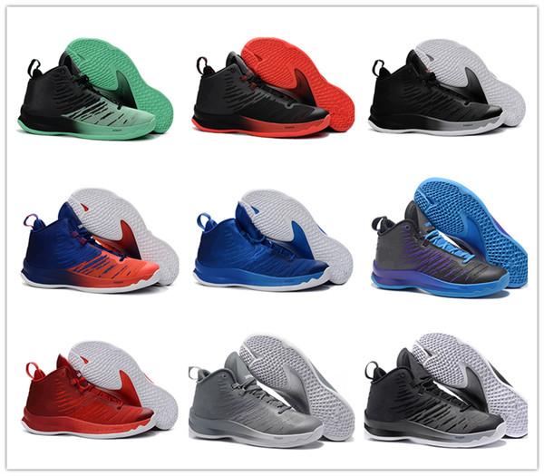NIKE AIR shoes Nuovo arrivo all'ingrosso vari colo top quality super fly 5 uomini scarpe da basket, marca outdoor sport fly 5 scarpe da ginnastica da uomo, taglia 40-46