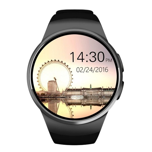 Bluetooth Smart Watch 1.3 inches IPS Round Touch Screen Water Resistant KW18 Smartwatch Phone with SIM Card Slot Sleep Heart Rate Monitor
