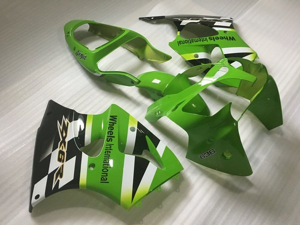 Injection Fairings set For KAWASAKI Ninja 2000 2001 2002 ZX-6R ZX6R 636 ZX 6R 00 01 02 white green Fairing body kit KH02