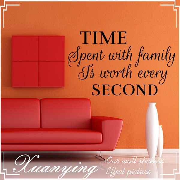 Time Spent with Family Wall Art Sticker Quote | Living Room Decor Mural Decal