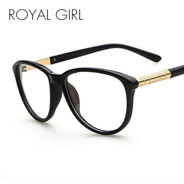Wholesale- Hot Sale New Designer Cat Eye Glasses Retro Fashion Black Women Glasses Frame Clear Lens Vintage Eyewear OS007