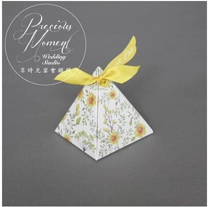 PASAYIONE Double-side Usable Floral Printing Candy Boxes For Chocolate Sugar Container Wedding Favors Box Gift Casamento Decor