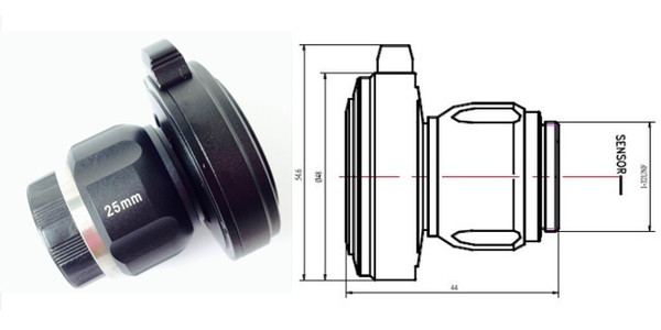 top popular Free shipping 25mm C-Mount HD Endoscope optical coupler,medical endoscope camera adapter OEM endoscope TV adapter,CCD HD lens 2019