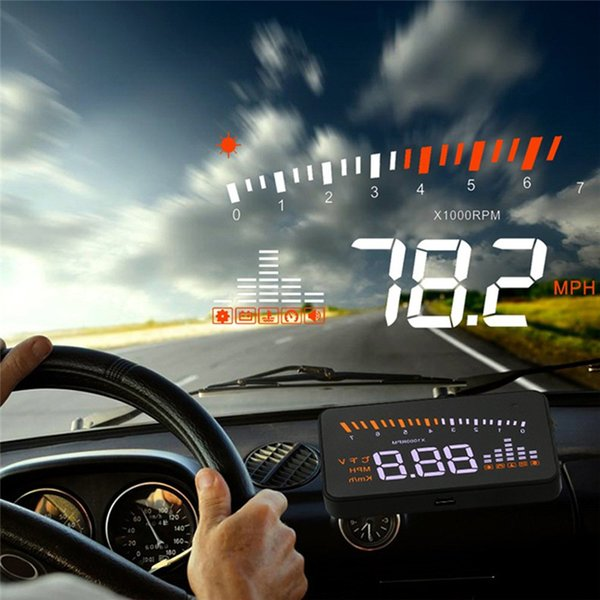 best selling Universal Car Auto Hud Head Up Display Projector With Odb2 Obd ii Interface Speed Warning System Quality Vehicle Speed Alarm