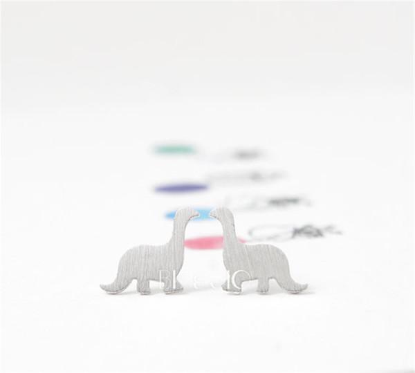Fashion dinosaur stud earrings Gold Color/silver plated/rose Gold Color stud dinosaur earrings wholesale free shipping jl-070