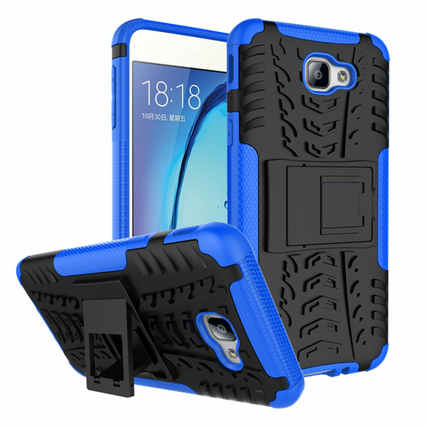 For Samsung Galaxy On5 2016/Galaxy J5 Prime Phone Case 2in1 Dual Layer Kickstand Heavy Duty Armor Shockproof Hybrid Silicone Cover Case