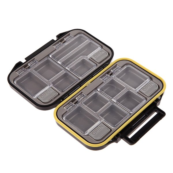 Wholesale- Waterproof 12 Compartments Multi-function Fishing Lure Bait Tackle Fly Fishing Box Storage Tool