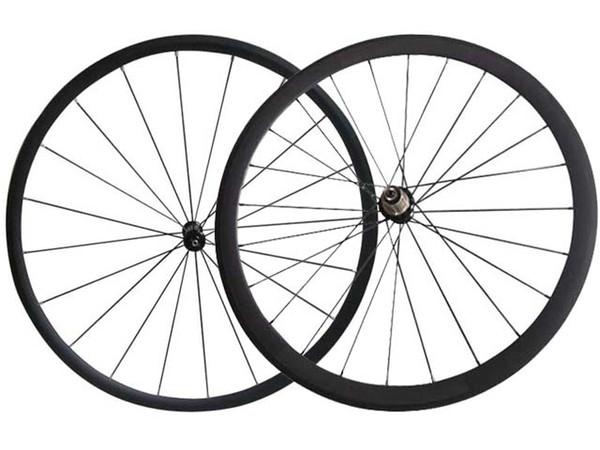 Ruote in carbonio per bici da strada anteriore 24mm posteriore 38mm copertoncino / tubolari Ruote per bici da strada Superlite Powerway R36 ruote in carbonio per mozzi