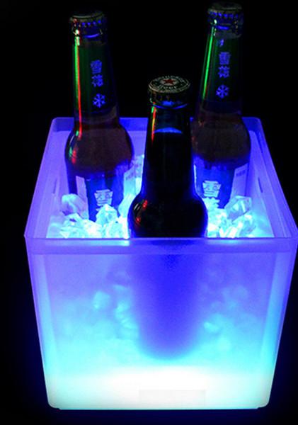 Illuminazione a LED Secchi da vino Secchiello per ghiaccio Raffreddatori Doppia benna a ghiaccio Esplosione Promozione Durevole 2018 Nuova moda