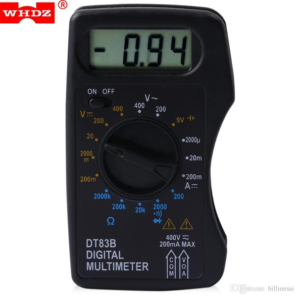 Digital Multimeter AC DC Tester Voltmeter Stable Performance with LCD Screen Measuring Current Resistance Diode Test New +B