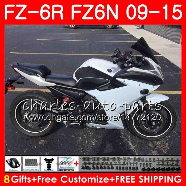 Body For YAMAHA FZ6N FZ6 R FZ-6N FZ6R 09 Glossy white 10 11 12 13 14 15 82NO28 FZ-6R FZ 6N FZ 6R 2009 2010 2011 2012 2013 2014 2015 Fairing