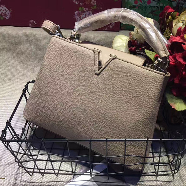 CAPUCINES Top-Griff Taschen Frauen Handtaschen aus Leder berühmte Marke V Taschen Designer-Handtaschen hochwertige Schulter Umhängetasche