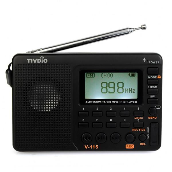 2 pcs FM/AM/SW Radio World Band Receiver MP3 Player REC Portable Recorder with Sleep Timer FM Radio F9205A