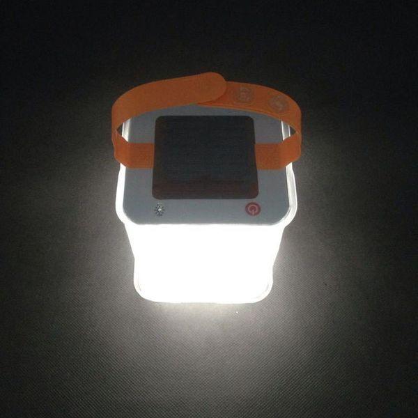 Square Inflatable Solar Light Lantern Foldable Camping Lamp Waterproof Outdoor Travel Hiking hang lighting Emergency ZJ0549