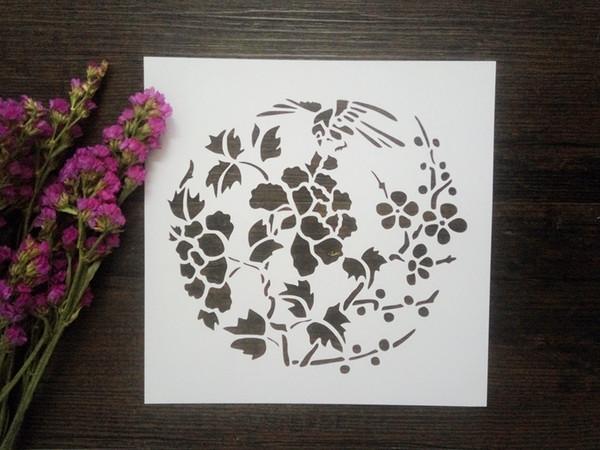 Acheter Dessiner Des Pochoirs Imprimer Des Modèles Masquage Modèle Pour Scrapbooking Cardmaking Peinture Bricolage Cartes Oiseau Dans La Fleur 071