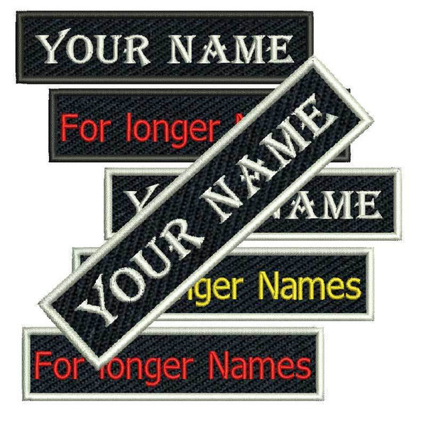 top popular Cool Custom Name Tag Embroidered Patch Sew or Iron on Clothing and Hats Any fonts Sizes and Color Are Available Patch 2021