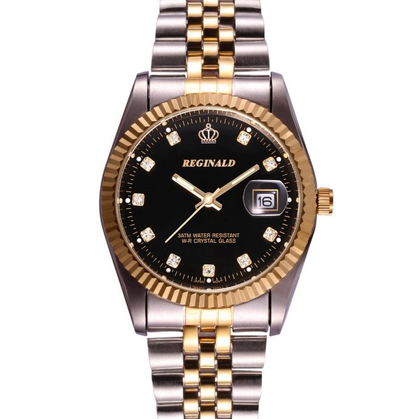 New business casual men ladies couple watch simple fashion stainless steel quartz watch gift table
