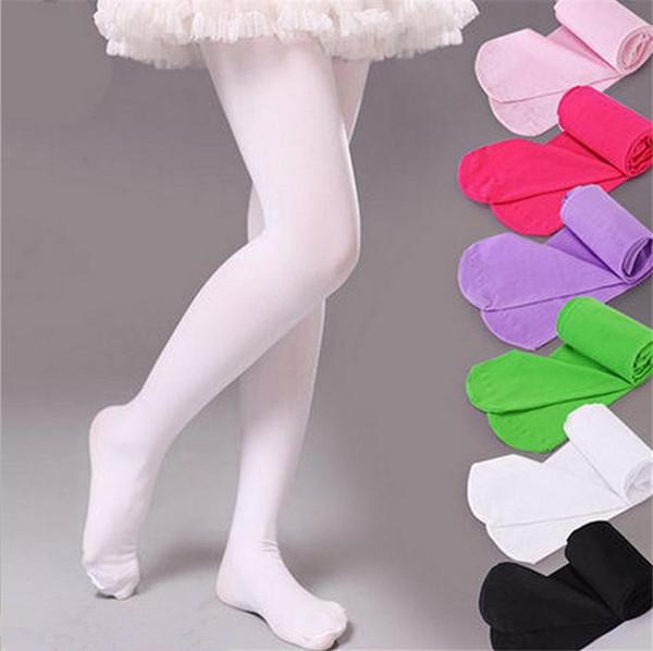 Free DHL Girls Velvet leggings Pantyhose Dance Stockings Children Ballet Tights baby Velvet Candy Color Leggings Children Stocking 2336