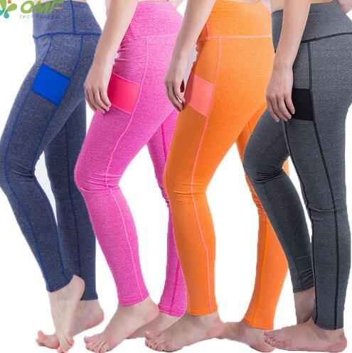 Contrast Color Leggings Women Fitness Yoga Pants Color Block Insert Leggings High Waist Heather Grey Patchwork Leggings Skinny