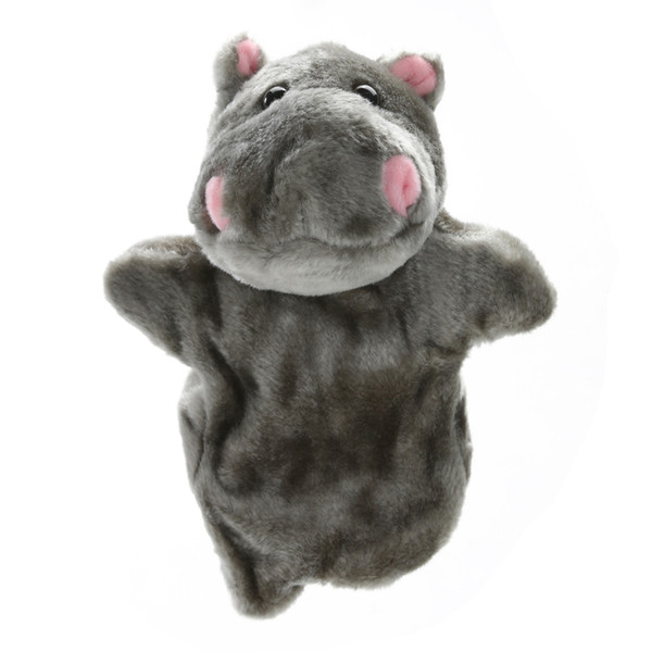 best selling Cute Hippopotamus Hand Puppet Plush Doll Toy Baby Kids Child Educational Soft Doll Plush Hand Puppet Toy