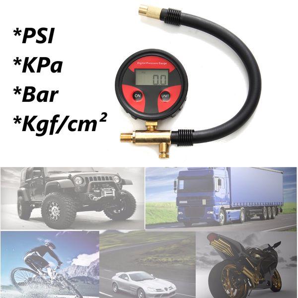 Neumático del neumático LCD Digital Medidor de presión de aire Medidor Auto Motocicleta Coche Camión