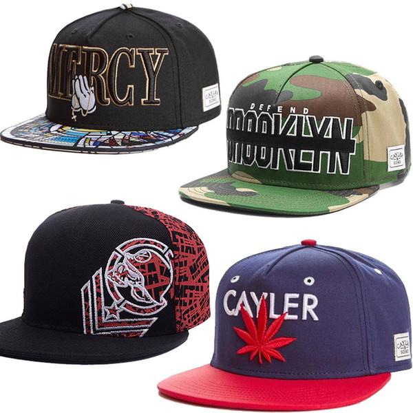 1260 Stile Beliebte Hip Hop Hysteresen Ball Hüte Fashion Street Hüte Headwear einstellbare Größe Cayler Sons benutzerdefinierte Fußball Caps