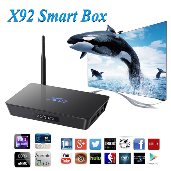 X92 Android 7.1 TV Box Amlogic S912 2G 3G 16G 32G Octa Core 5G Wifi Set Top Box