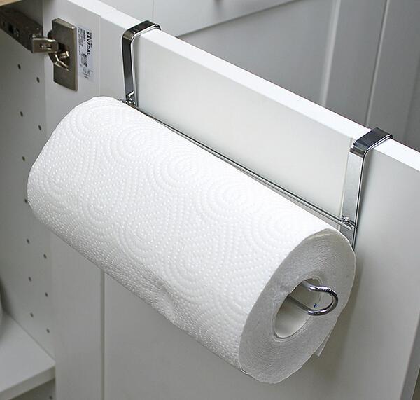 Novo Suporte De Papel De Cozinha Cabide Toalha De Rolo de Tecido Rack de Banheiro Pia Do Banheiro Porta Pendurado Gancho De Armazenamento Organizador Titular Rack