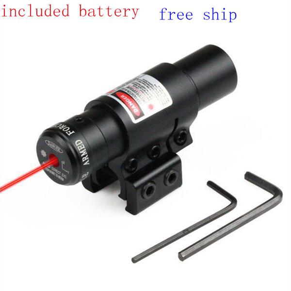 Pointeur tactique Red Dot Laser pour pistolet de chasse et rail de 11mm ou 20mm Précision 650nm avec rail de montage 11/20 mm pour pistolets Airsoft