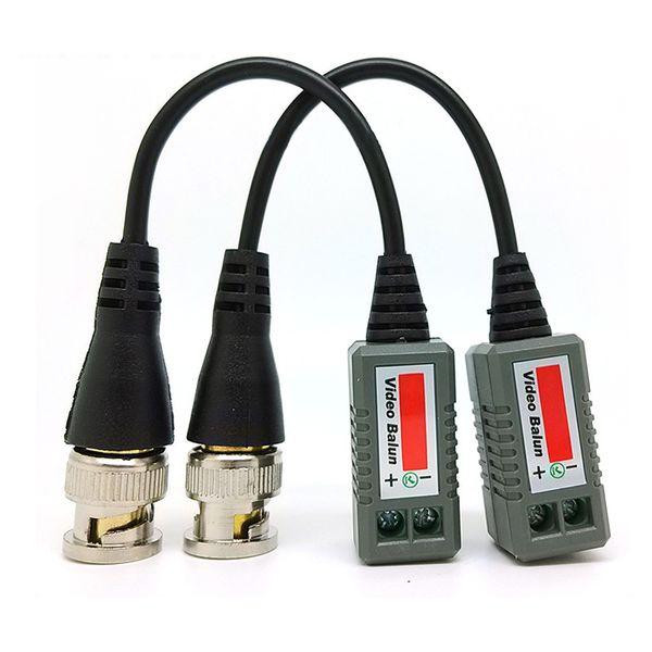 free shipping wholesale 100 pair/ lot 200pcs passive utp balun cat5 rj45  male bnc connector