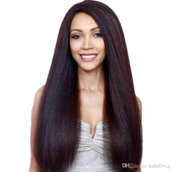 Yaki Straight Silk Wig Is Full Of My Shoes And Senior Rayita Brazil 5.5 * 5.5 Cups Silk Full Lace Wig All The Bud Silk Shoes, Black Women