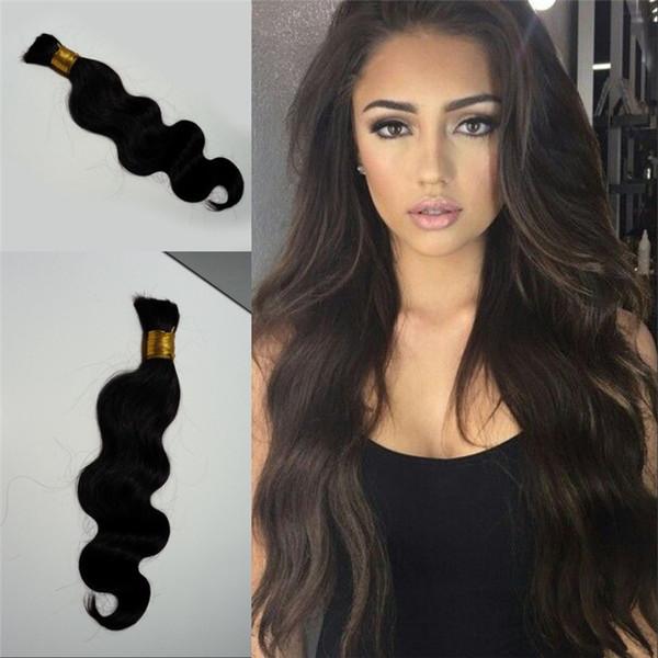 Brazilian Body Wave Hair Bulk No Attachment 1 Piece 10-26 inch Bulk Human Hair for Braiding FDSHINE