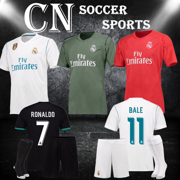 new concept 0f1e3 a0d38 2019 AC Milan 1718 Real Madrid Set Soccer Jersey 2017 2018 Juven RONALDO  Thailand Quality POGBA Rome United Jersey City Dortmund Jerseys From ...