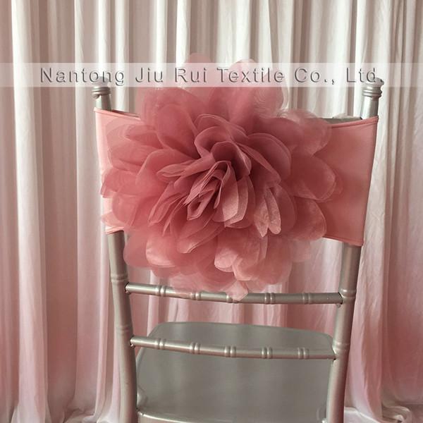 Very very Popular Romantic Fantastic Free Shipping 100pcs /lot Blush /Pink 35cm dia Lycra Chiavari Chair Band For Wedding Use