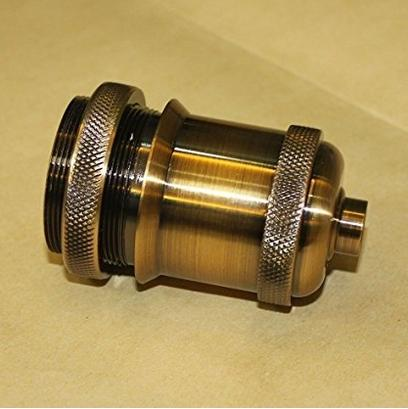 Perroquet Uncle En Laiton Vis Vis 110V-250V Fil DIY Prise De Lumière Vintage Support De Lampe De Cuivre pour E26 E27 Ampoules
