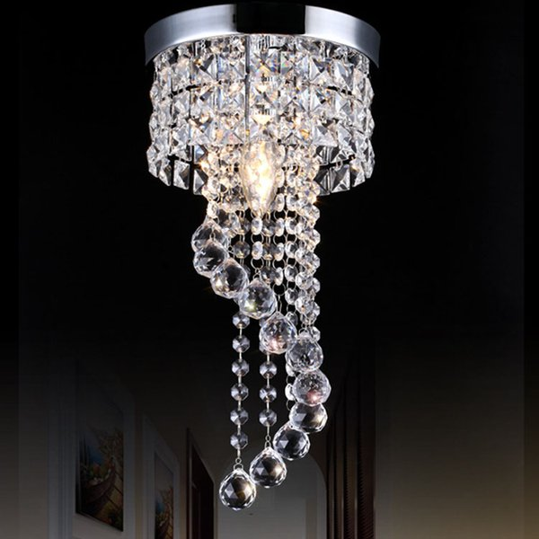20/25cm Crystal Chandelier pendant lighting chandeliers Fixture Flush Mount Ceiling Light Lamp for Aisle Stair Hallway Porch Lights