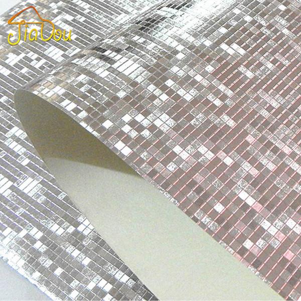 Luxo Glitter Mosaico Papel De Parede De Fundo Papel De Parede Papel De Parede De Ouro Papel De Parede De Teto De Prata Wallcovering Papel De Parede