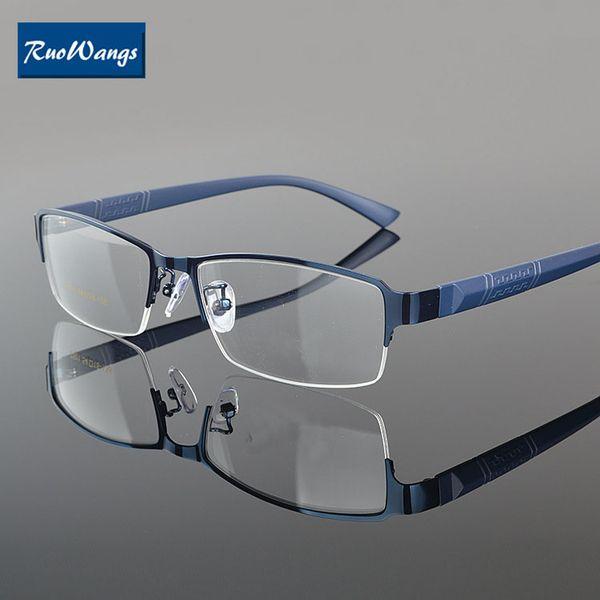 Wholesale- RuoWangs Men women eyeglass Myopia glasses frame eyeglasses optical glasses frame spectacle prescription women eye glasses frame