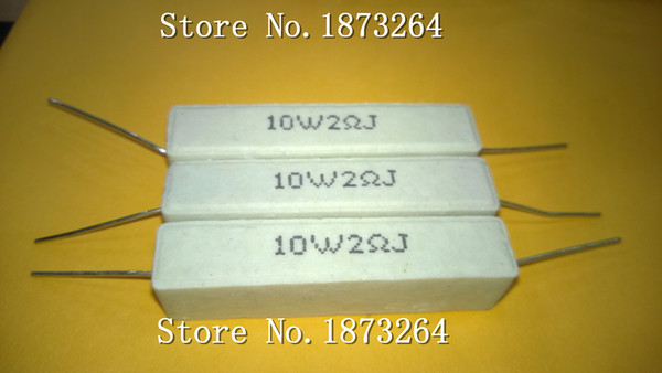 Freeshipping 10W2RJ ceramic cement resistors cement resistance 10W2 lead 10 watts 2 ohm load resistor 5PCS/LOT