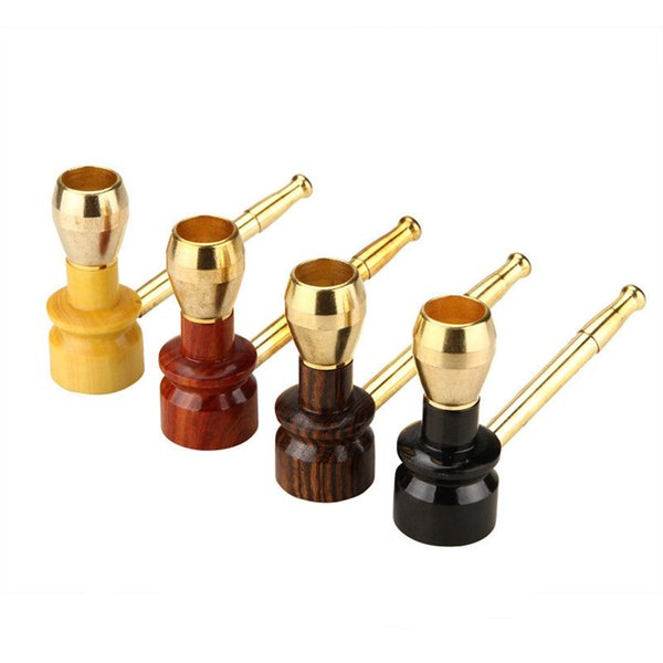 High Quality Rosewood Pipe Durable Smoking Pipe Tobacco Cigarettes Cigar Pipes Filter Metal Rosewood Gift Wholesale Price